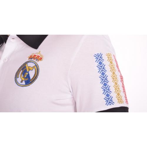 Поло вишиванка «Реал» чоловіча біла