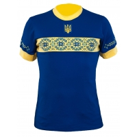 Вишиванка Слава Україні,синя