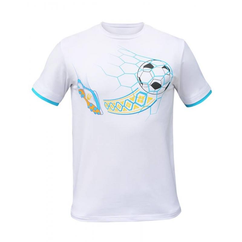 Біла футболка чоловіча з вишивкою «М яч» 7cdb5a75dc25e