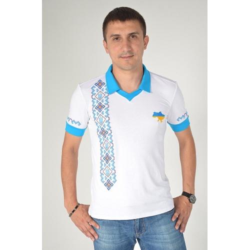 Поло вишиванка  «З Україною в серці» чоловіча