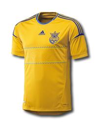 Футболка adidas сборной Украины, мужская, желтая